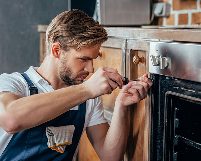 Kitchen maintenance and repairs are included in our property maintenance services.